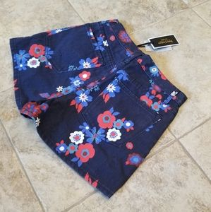 Juicy Couture Shorts - NEW JUICY COUTURE MOM JEAN SHORTS FLORAL JEWELED